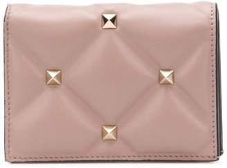 Valentino Valentio Garavani Candystud French flap wallet