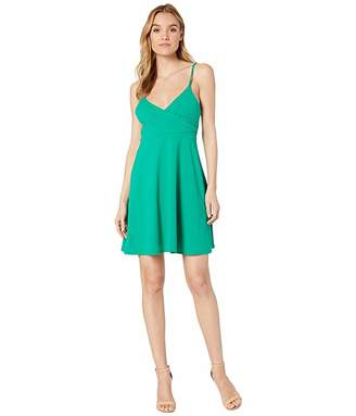Susana Monaco Wrap Top Thin Strap Dress