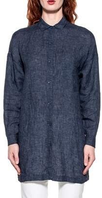Bagutta Women's Blue Linen Shirt.
