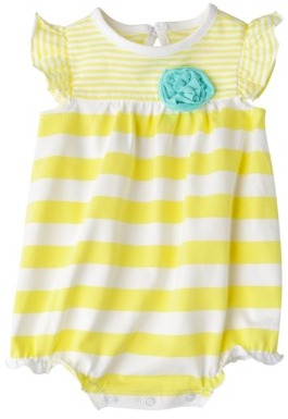 Circo Newborn Girls' Romper - Bright Yellow
