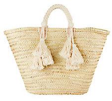 Giselle Ilaria Fringe Tassel Tote Bag $120 thestylecure.com