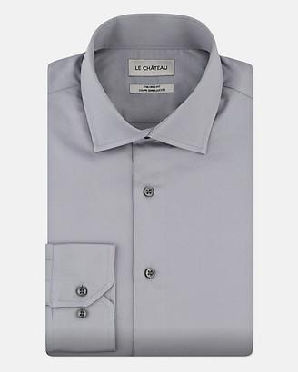 Le Château Stretch Cotton Sateen Tailored Fit Shirt