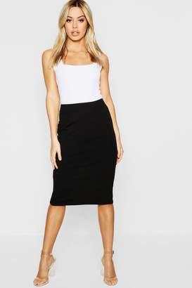 boohoo Petite Crepe Midi Skirt
