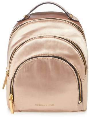 KENDALL + KYLIE Kendall & Kylie Light Pink 'Sloane' Satin Mini Backpack