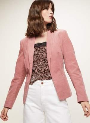 Miss Selfridge Pink cord blazer