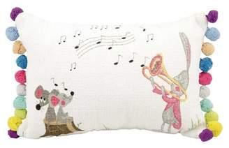 Nourison Life Styles Tbunny with Trumpet White Throw Pillow