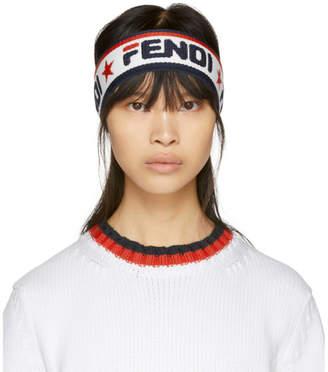 Fendi Navy and White Mania Headband