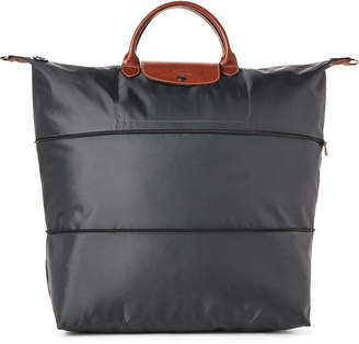 Longchamp Grey Le Pliage Expandable Travel Bag