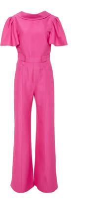 dd05d18a756 Brandon Maxwell Straight-Leg Stretch-Crepe Jumpsuit