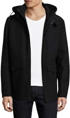 Cole Haan Men's Faux Fur-Lined Waterproof Jacket