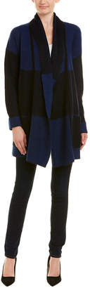 Qi Plaited Block Stitch Cashmere Cardigan