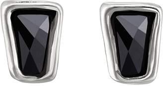 Uno de 50 Ladymatic Bezel Set Faceted Swarovski Crystal Element Stud Earrings