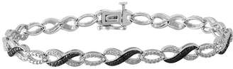 Black Diamond FINE JEWELRY 1/4 CT. T.W. Genuine Sterling Silver Infinity 7.25 Inch Tennis Bracelet