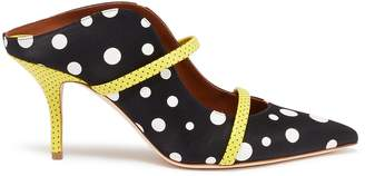 Malone Souliers 'Maureen' polka dot strappy satin mules