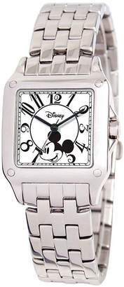 Disney Mickey Mouse Womens Silver Tone Bracelet Watch-W000469