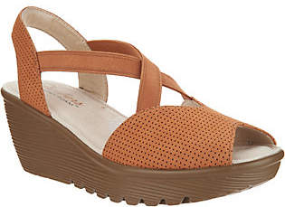 Skechers Peep-Toe Sling Back Wedges- Piazza