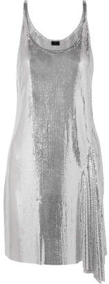 Paco Rabanne Metallic Chainmail Mini Dress - Silver