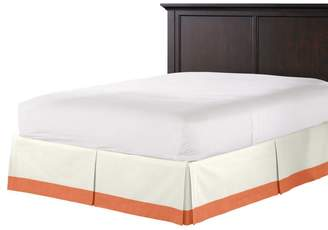 Loom Decor Tailored Bedskirt Ivory & Coral