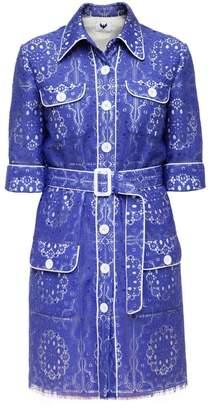 Diana Arno Maribel Mini Shirt Dress In Lace