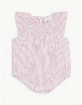 The Little White Company Pinstripe cotton bodysuit 0-24 months