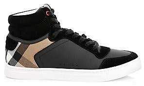 3840f81549b Burberry Men s Reeth Patchwork High-Top Sneakers