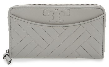 Tory Burch Women's Tory Burch Quilted Lambskin Continental Wallet - Grey