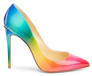 f9000a21fd Christian Louboutin Women's Pigalle Follies 100 Rainbow Patent Leather Pumps