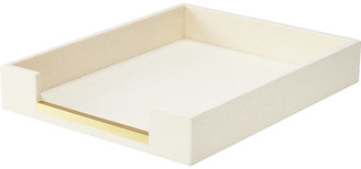 AERIN Shagreen Paper Tray - Cream