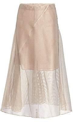 Akris Women's Fine Net A-Line Skirt