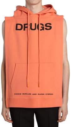 Raf Simons Backless Cotton Jersey Sweatshirt Vest