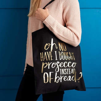 6b9d42395a1 Baby Yorke Designs Prosecco Black And Gold Metallic Foil Bag
