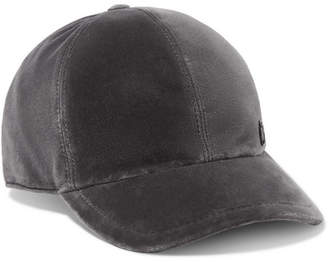 Maison Michel Velvet Baseball Cap - Gray
