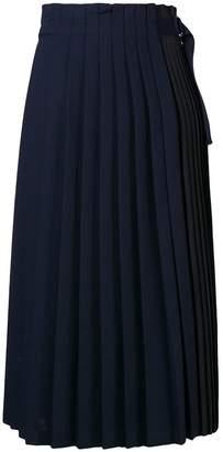 Sportmax Code pleated midi skirt