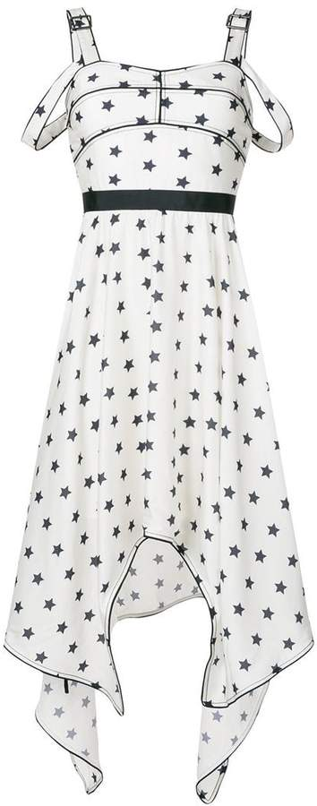 Self-Portrait star print sleeveless midi dress
