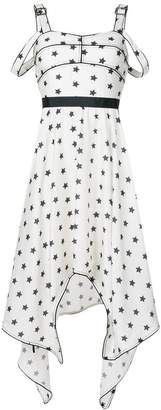 Self-Portrait star print sleeveless midi dress