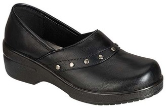 Black Dallas Stud-Accent Clog $28 thestylecure.com