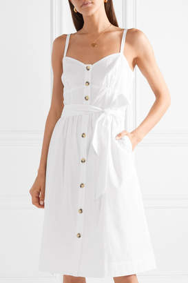 J.Crew Rossini Cotton-poplin Dress - White