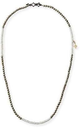 Armenta Old World Pyrite & Silverite Beaded Wrap Bracelet