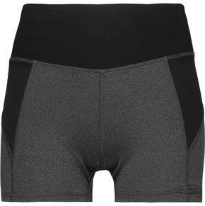 Purity Active Two-Tone Mesh-Paneled Stretch Shorts
