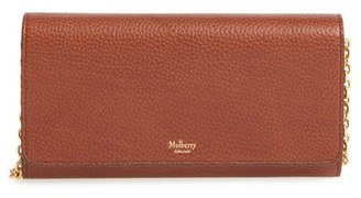 Mulberry 'Continental - Classic' Convertible Leather Clutch - Brown $725 thestylecure.com