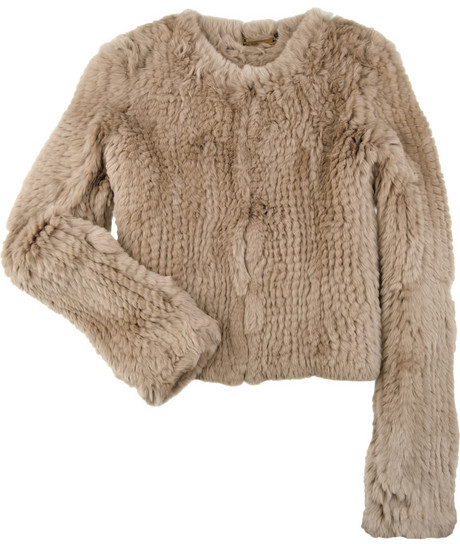Diane von Furstenberg Jane rabbit box jacket