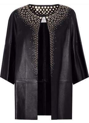 Yves Salomon Eyelet-Embellished Leather Jacket