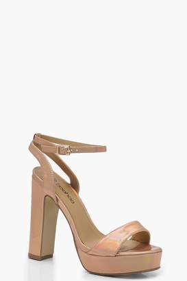 boohoo Wide Fit 2 Part Platform Heels