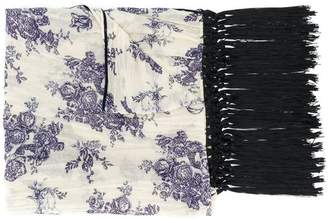Forte Forte floral print fringed scarf