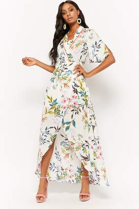 Forever 21 Floral Wrap High-Low Dress