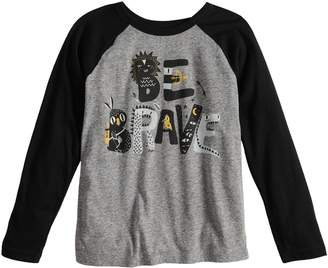 "Boys 4-8 Jumping Beans ""Be Brave"" Raglan Graphic Tee"