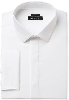 Bar III Men's Slim-Fit White French Cuff Dress Shirt, Only at Macy's $65 thestylecure.com
