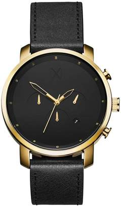 MVMT chrono Series - 45 mmGold Black Leather