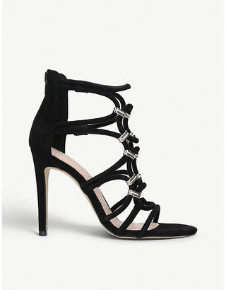 Aldo Umaledia lattice-strap suede sandals