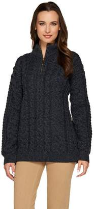 Carraigdonn Carraig Donn Kilronan Unisex Wool 1/2 Zip Sweater